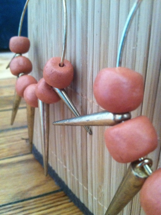 beautiful clay bead handmade earrings