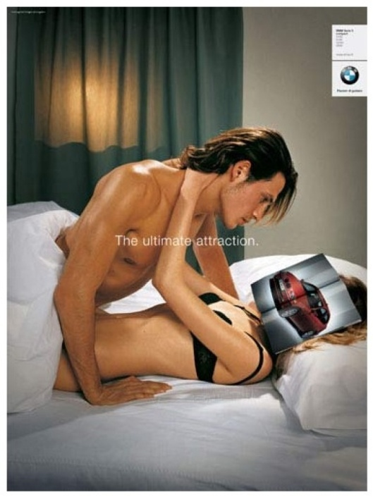 car and sex controversial misogynistic ad