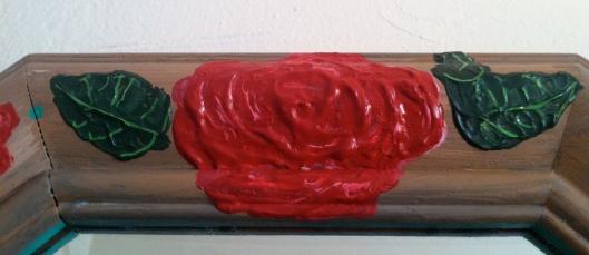 DIY Rose Hand painted Frame