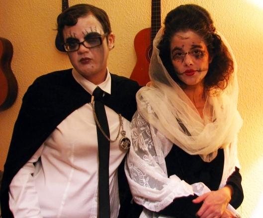 Happy Halloween y Dia De Los Muertos