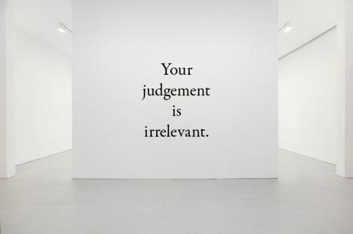 Your Judgement