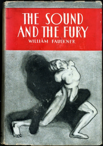 First edition cover of The Sound and the Fury